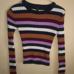 Forever 21 - long sleeve knit crop top